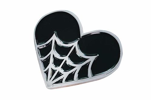 Cobweb Heart Soft Enamel Pin