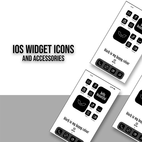 Widget Icons Black