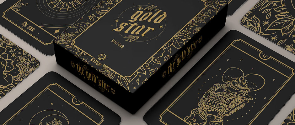 """Limited Edition """"The Gold Star"""" Witchin Tarot Deck"""