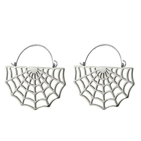 Cobweb hoop earrings Gold/Silver