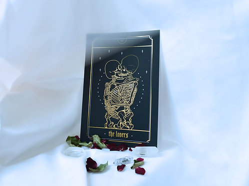 The Lovers Gold Foil Print
