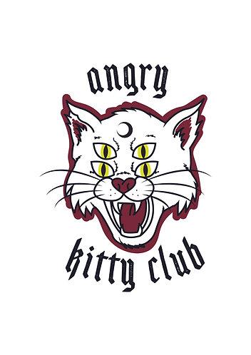 Angry Kitty Club print