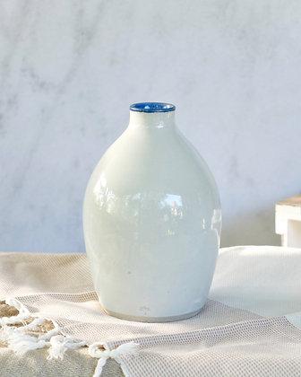 Modern Blue Rimmed Vase