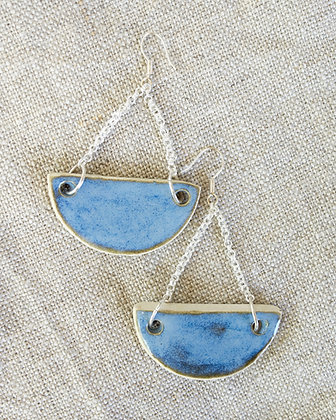 Half Moon Clay Earrings