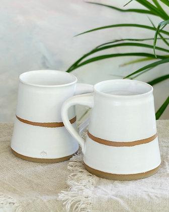 Modern Raw Clay Mug