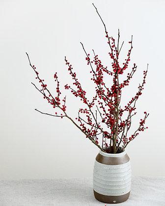 Ridged Rustic Vase