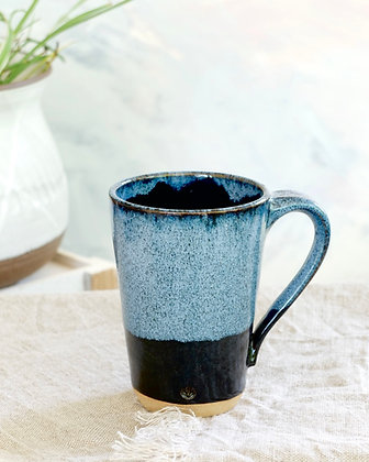 Tall Mug in Black & Blue Haze