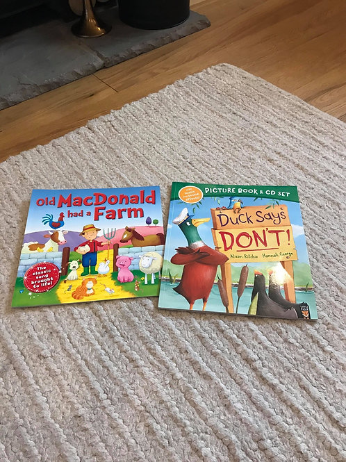 Old McDonald & Duck Says Dont - books with dvd.