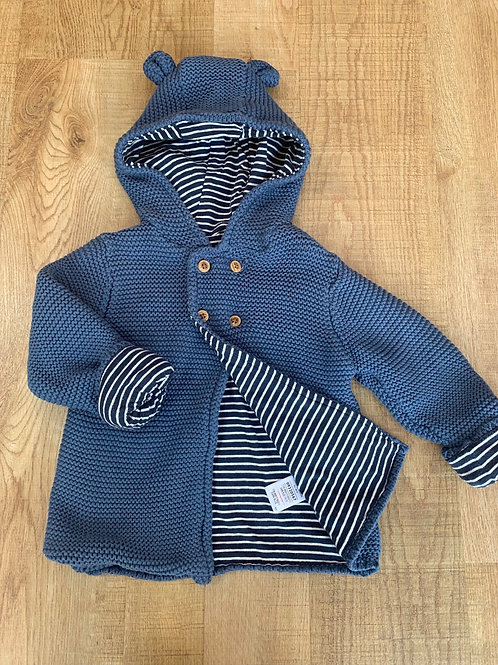 Boys M&S lined cardigan/jacket 18-24m