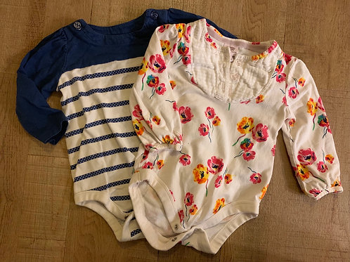 Girls vest tops - Gap 6-12m and Ted Baker 6-9m