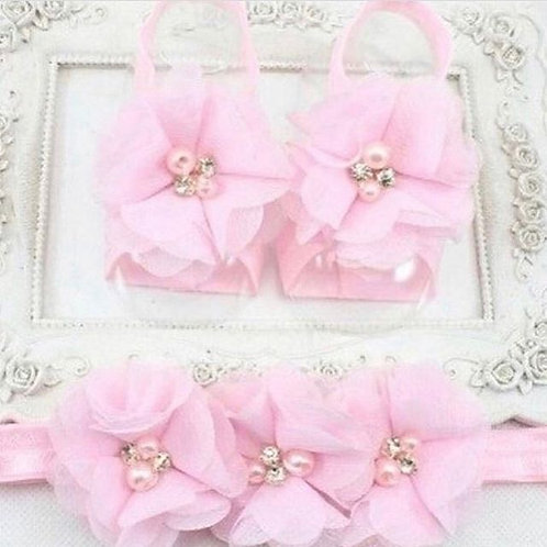 Headband and ankle set pink - NEW