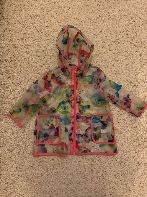 Girls Fish Design Rain Coat  - Next 12-18 months
