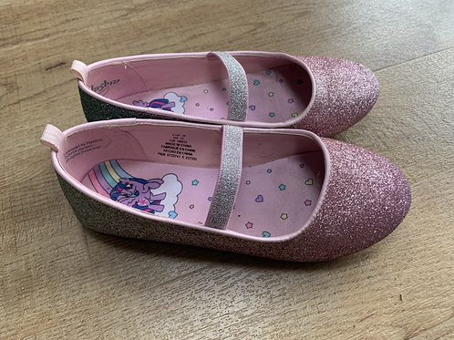 Girls H&M pink and silver sparkly shoes size 30 (uk 11)