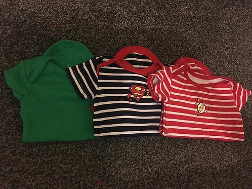 3 boys vests 0-3m
