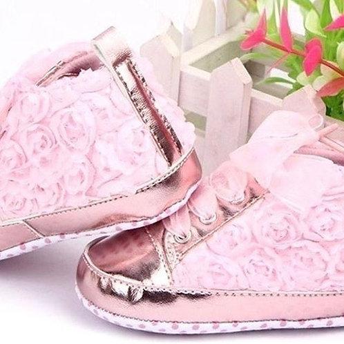 Rose Pink Shoe 3-6m