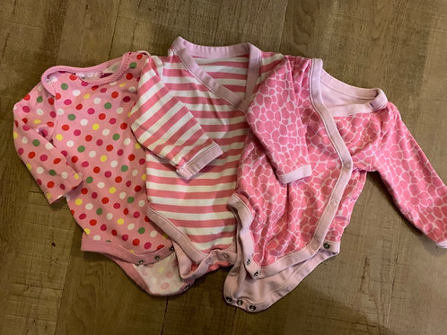 Girls vest tops. M&S and H&M 3-6m