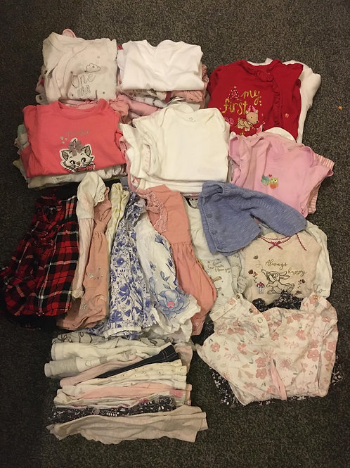Girls bundle size new born/first size (78 items) - Collection Only Bolton BL4
