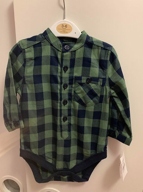 Checked Shirt NEW WITH TAGS Nutmeg 3-6m