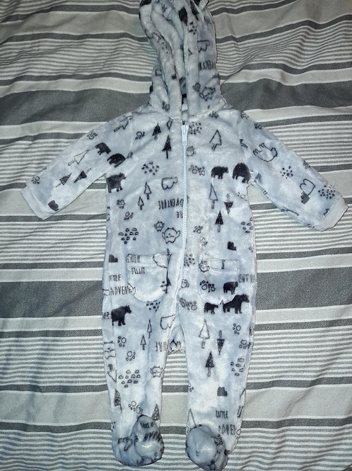 Fleece onesie zip up - 0-3m