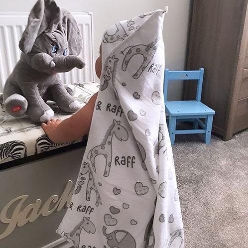 Soft hooded towel