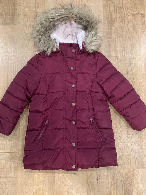Girls Burgundy John Lewis Coat 6y