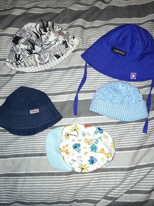 bucket Hat bundle with cap 0-6m