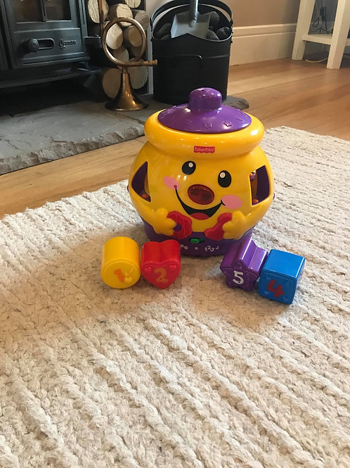 Interactive learning cookie jar