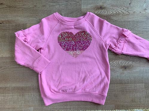 Girls pink Next jumper 6y
