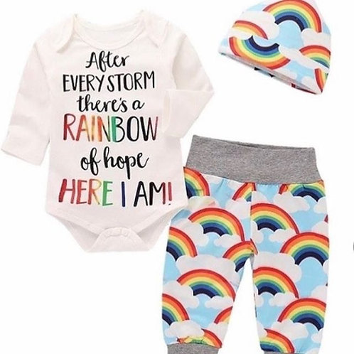 Rainbow outfit 3-6m - NEW