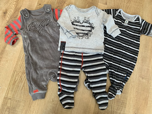 Boys Baby K outfits Newborn and 0-3m