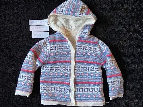 Blue Fleece Hooded Top - Mothercare18-24m