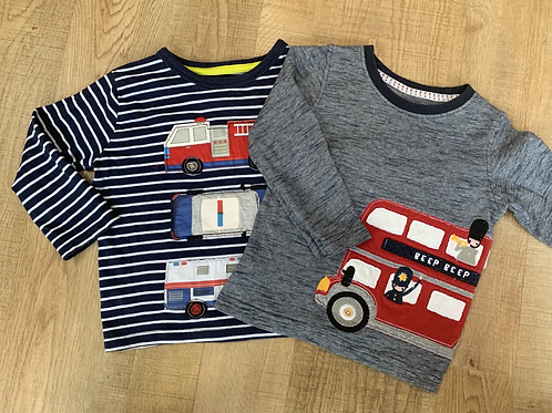 Boys Blue zoo & Mothercare tops 12-18m