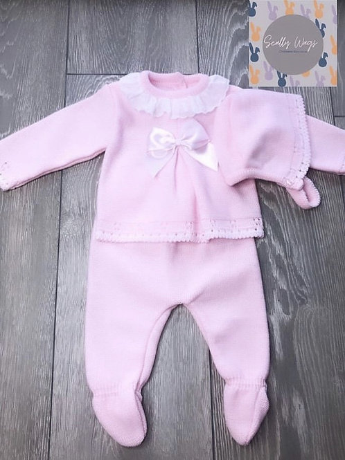 Pink knitwear outfit Newborn NEW
