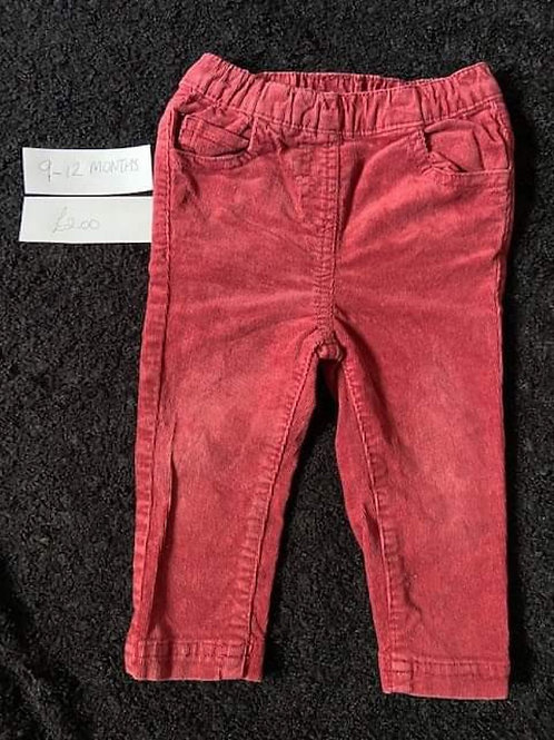 Red Cord Pants - 9-12m