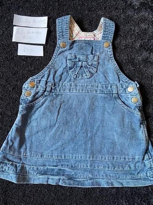 Blue Corded DressJo Jo Maman Bebe - 18-24m