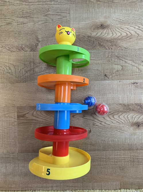 Stacking ball drop toy