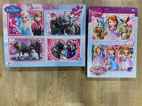 Frozen and Sofia the first jigsaws