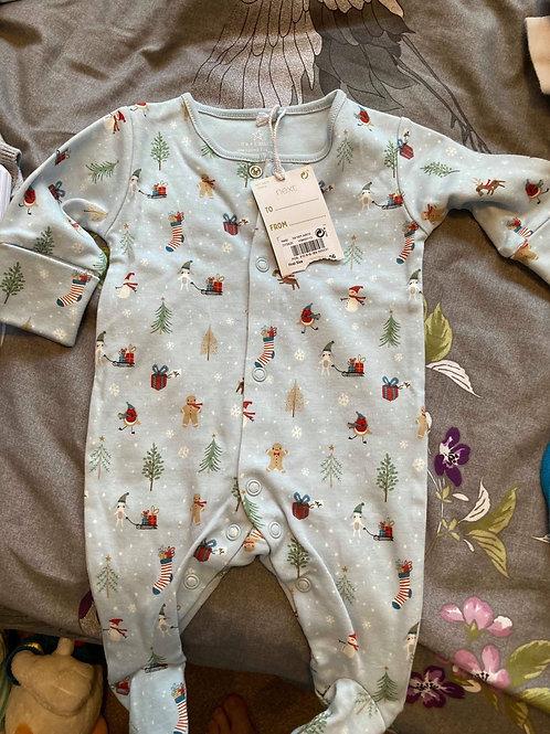 Next Chrstmas babygrow first size - NEW