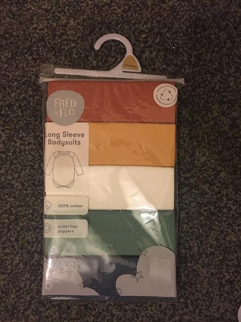 Brand new pack of 5 boys long sleeve vests - Newborn