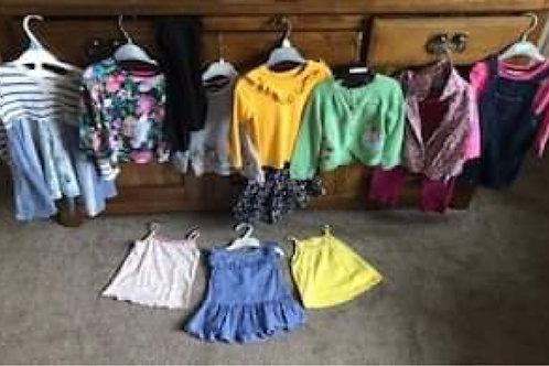 Girls Clothes Bundle 18-24 JoJoMamanBebe, Nutmeg, George, Next, M&S, LOGG)