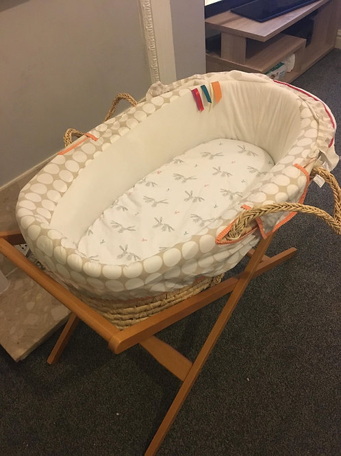 Mamas and papas Moses basket and stand - Collection Only Bolton BL4