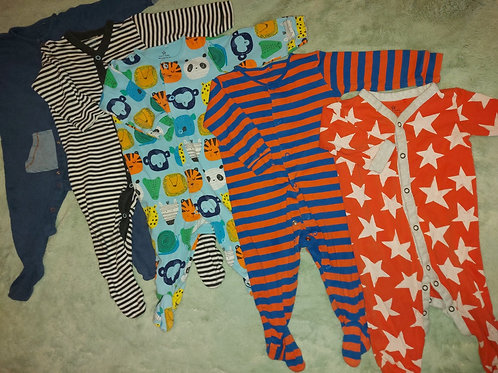 5 Sleepsuits Next 3-6 m
