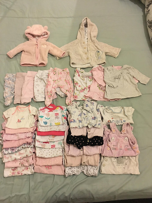 Bundle of baby girl clothes (35 items) Tiny Baby - Collection Only	 Bolton BL4