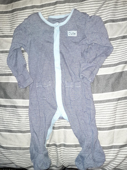 Cute' all in one blue checked0-3m