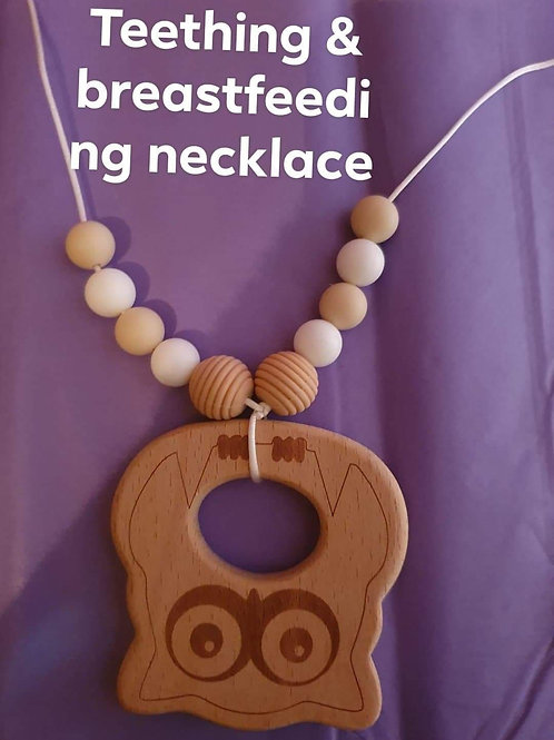 Teething and breastfeefing necklace