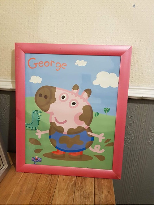 George from peppa pig photo in frame  Collection Only BL4