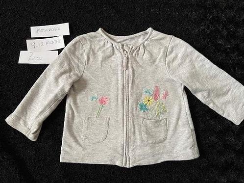 Grey Zip Jacket Mothercare 9-12m