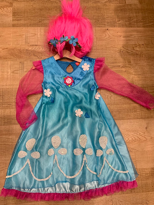 Troll costume and wig 7-8y