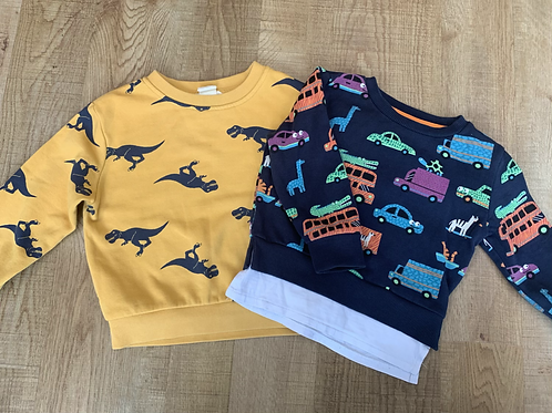 Boys jumpers H&M and Blue zoo 18-24m