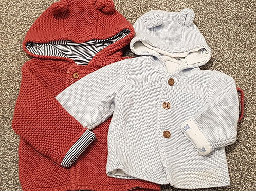 Knitted jackets - 3-6 months - M&S and Mothercare